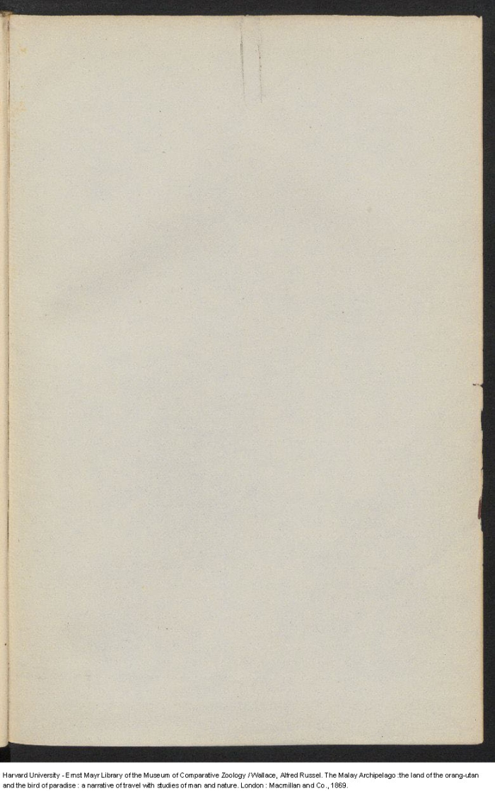 Wallace, A  R  1869  The Malay Archipelago: The land of the