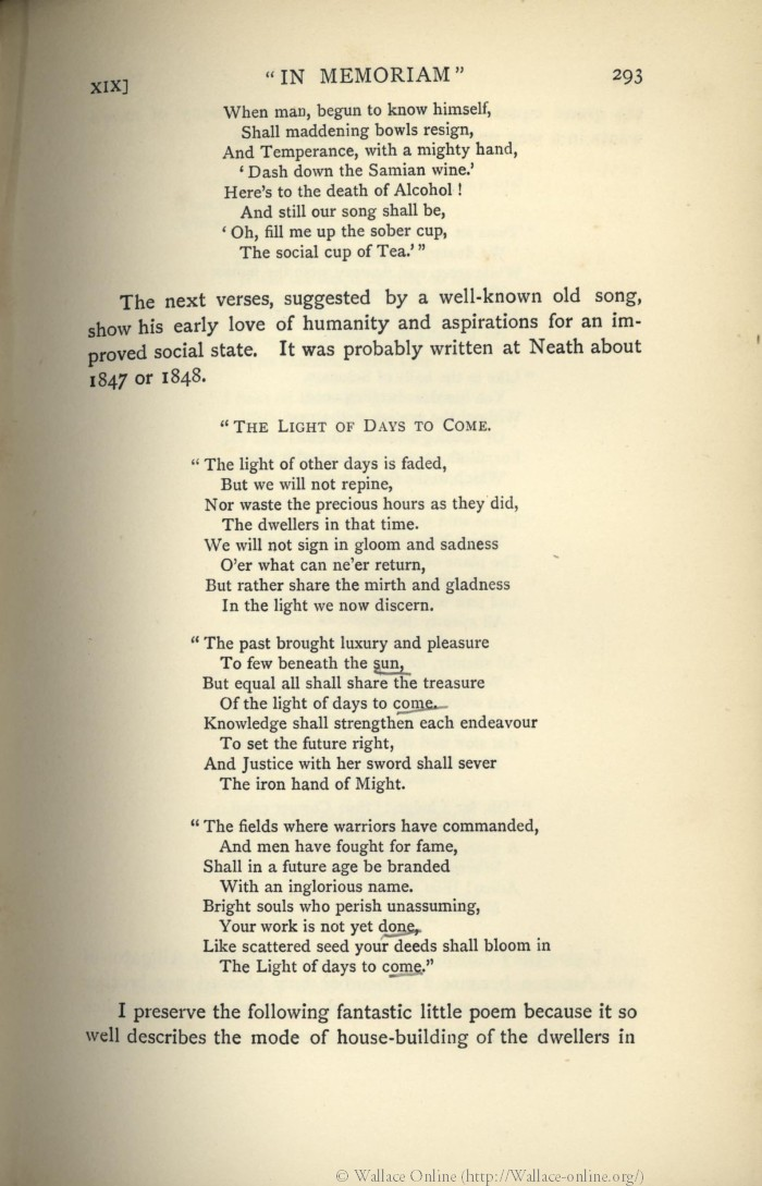 Wallace, A  R  1905  My life: A record of events and opinions