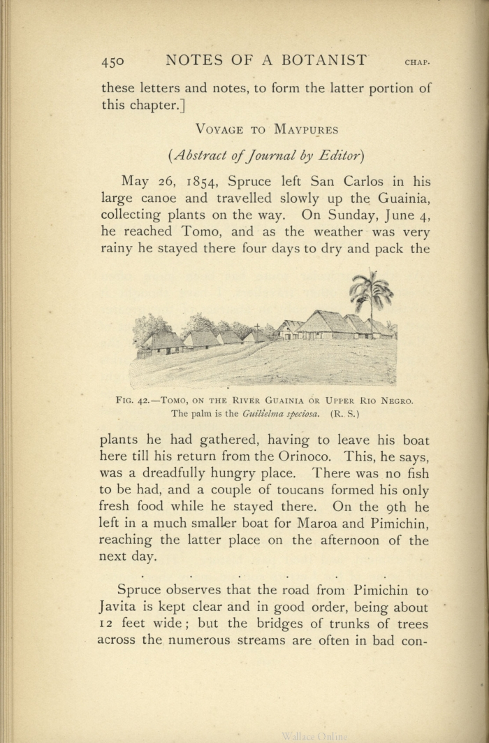 Wallace, A  R  ed  1908  Notes of a botanist on the Amazon